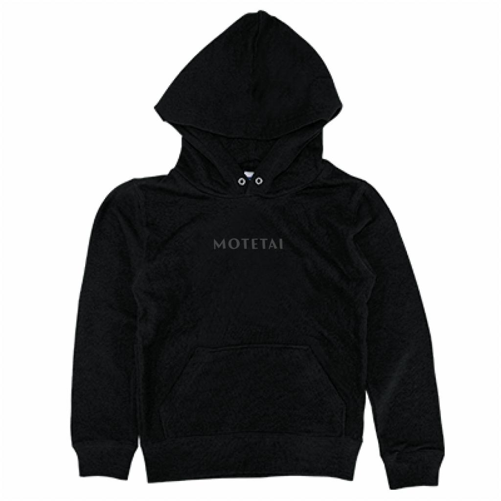 とうふめんたるずパーカー(MOTETAI・キッズ・黒)