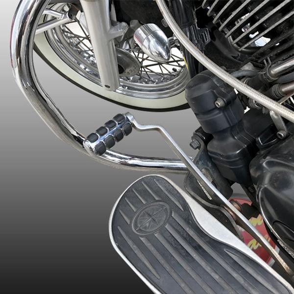 バイク クラッチペダル カバー シフトカバー アメリカン DS 汎用 ハーレー等 ドラッグスター/簡単取り付け/カスタム/アルミ/メッキ