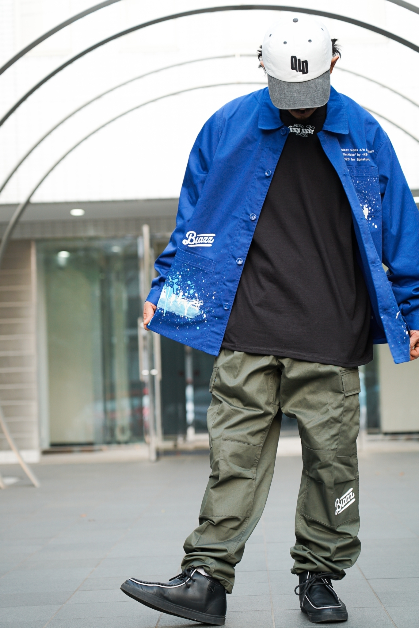KB Paint French Work Jacket [BLUE]