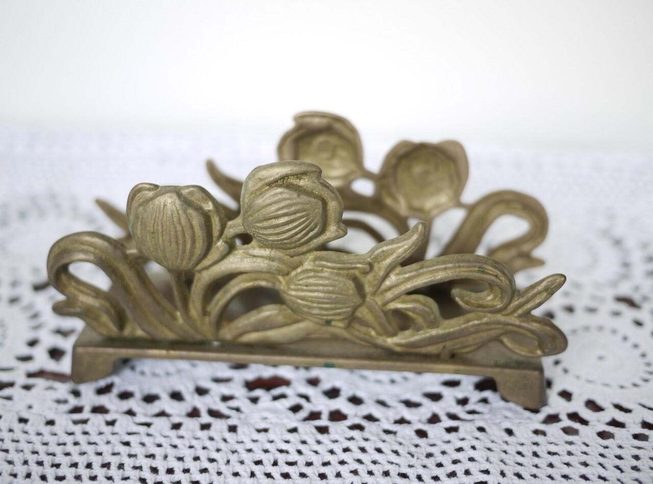 レタースタンド ナプキンホルダー イタリア 真鍮