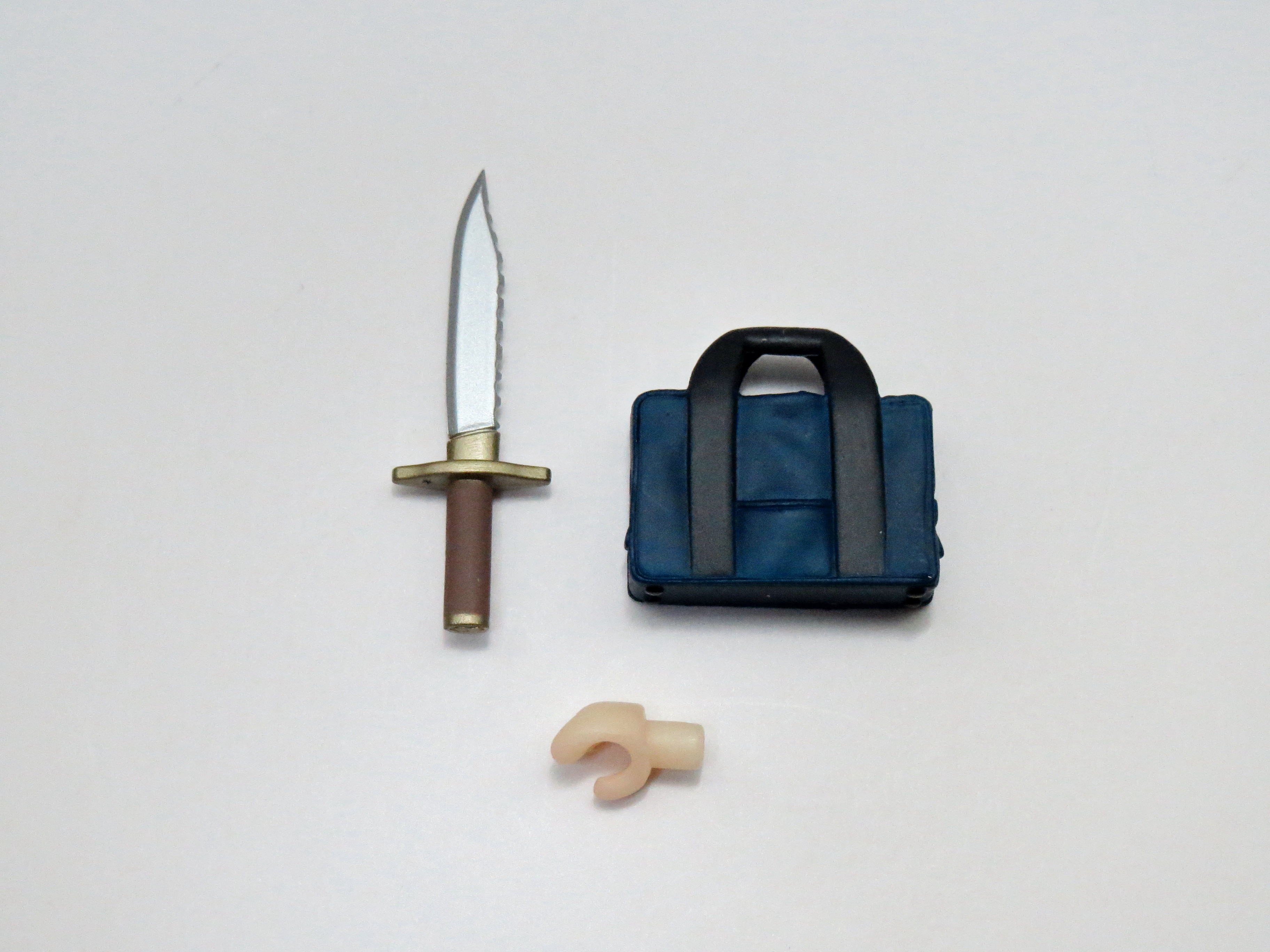 再入荷【044】 朝倉涼子&拡張パーツ 小物パーツ ナイフとカバン ねんどろいど