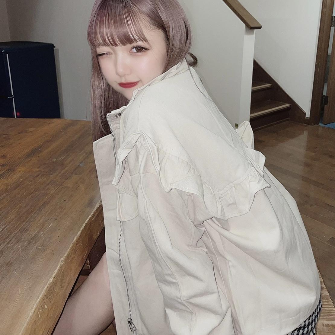 【津代美月】ヨークフリルジャケット