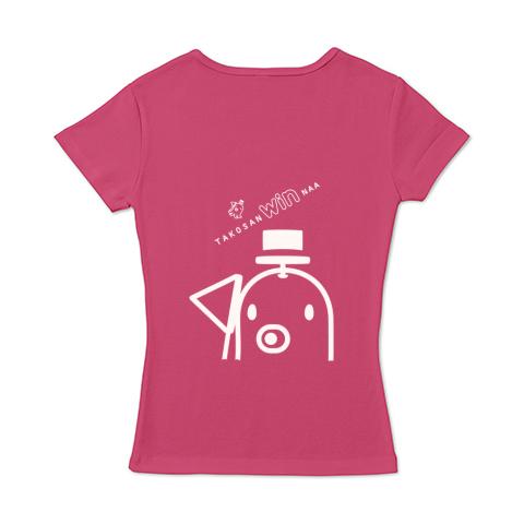 キャラT27 たこさんwinなーD* レディースタイプ6.2オンス CVC フライス Tシャツ