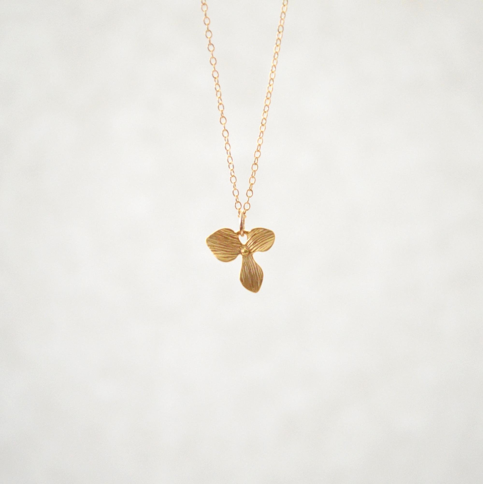 Matt Flower Necklace