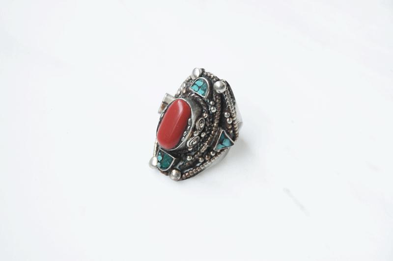 heavy stone ring