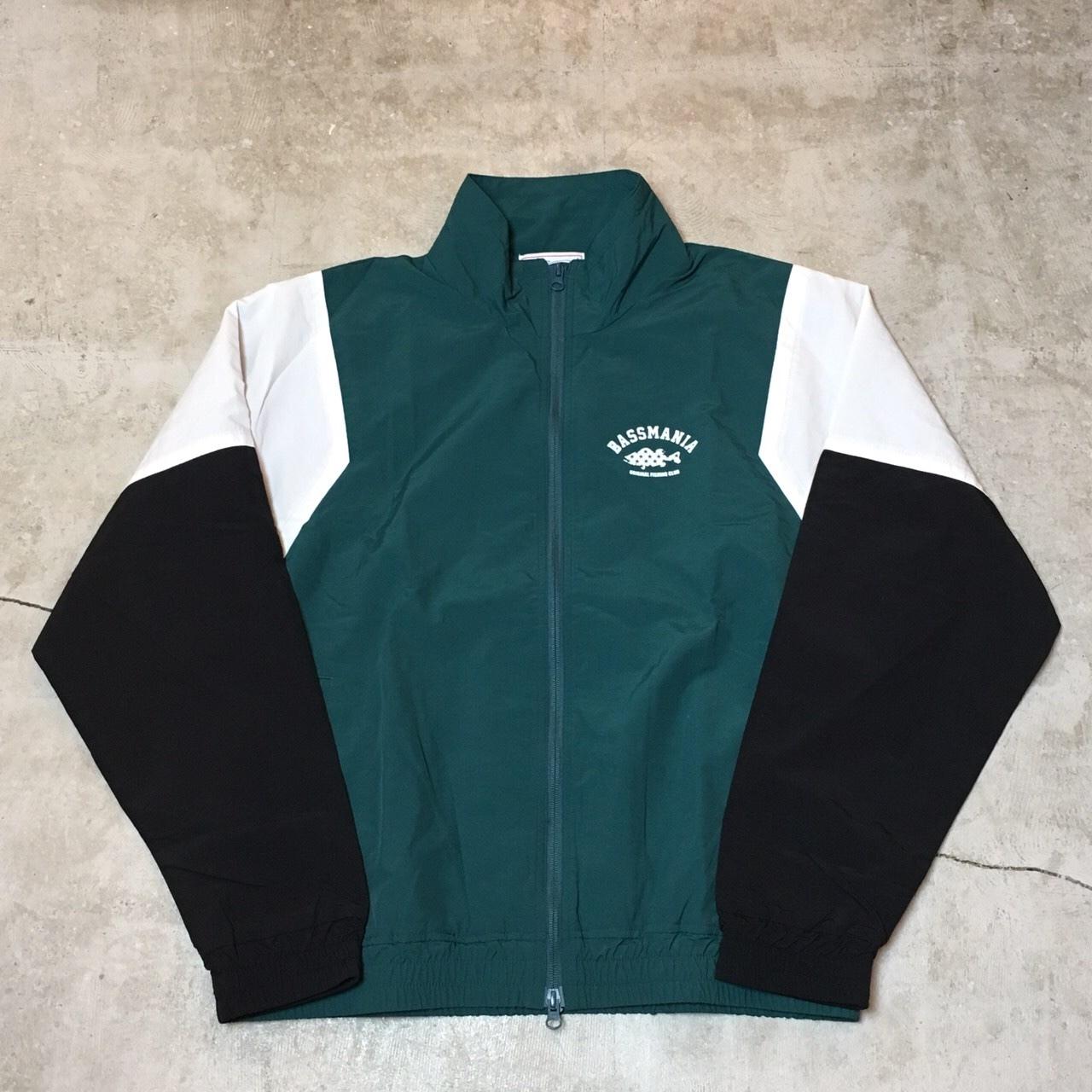 star arch retro nylon jacket  【GRN×WHT】