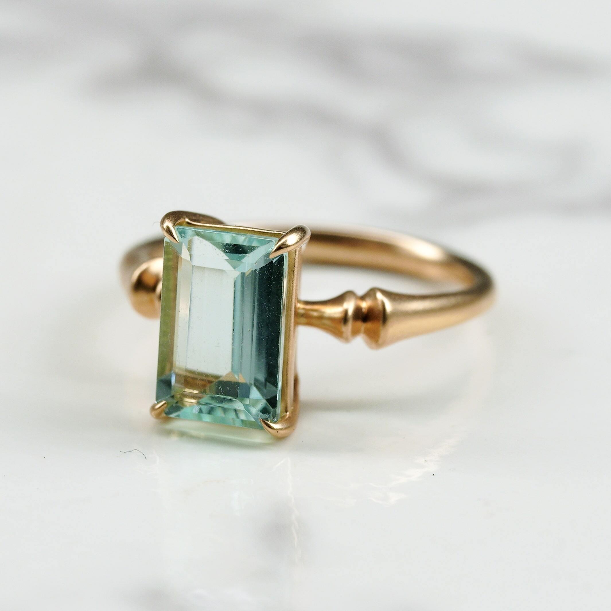 Aquamarine ring /K18YG