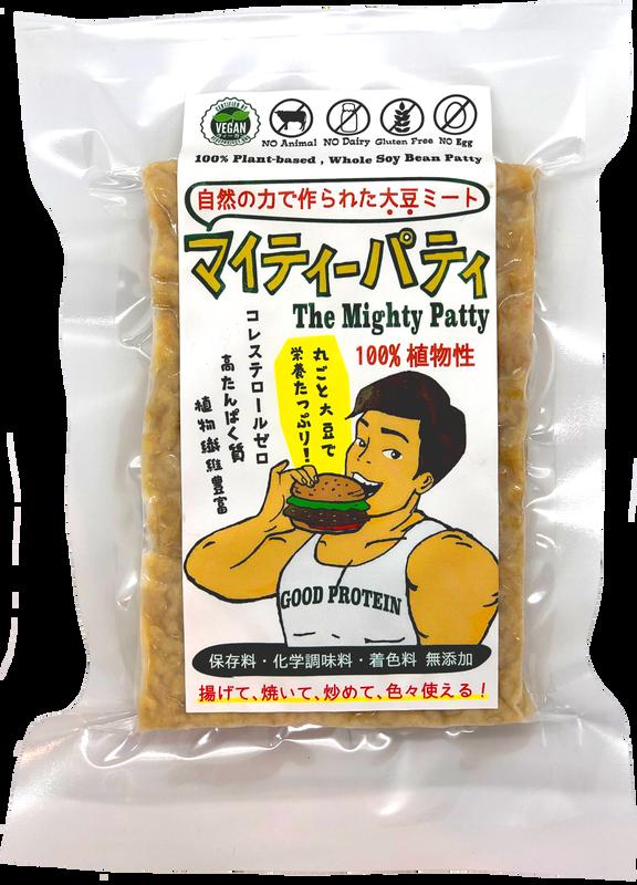 「マイティーパティ」自然の力で作られた大豆ミート 4枚セット/ The Might Patty - 100% Plant-based Fermented Whole Soy Bean Patty / 4 Pack Set