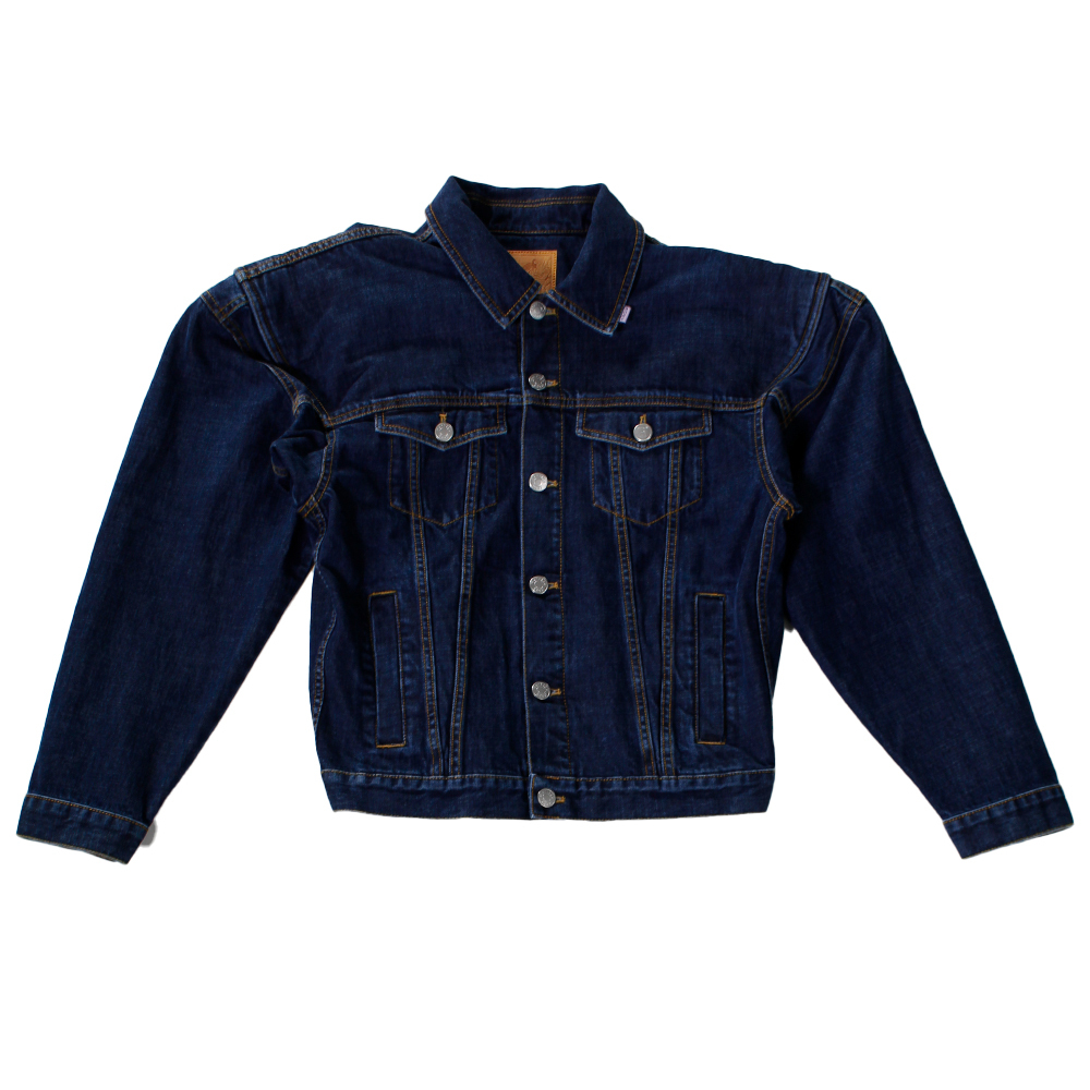 MARTINE ROSE Wide Shoulder Denim Jacket