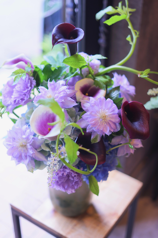DESIGNER FLOWERS 紫陽花アレンジメント【送料込】