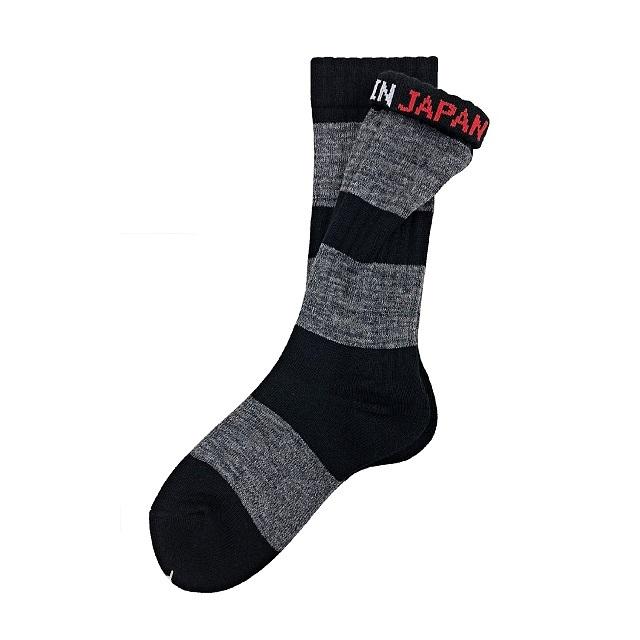 """Mix Border - black-"" Socks"
