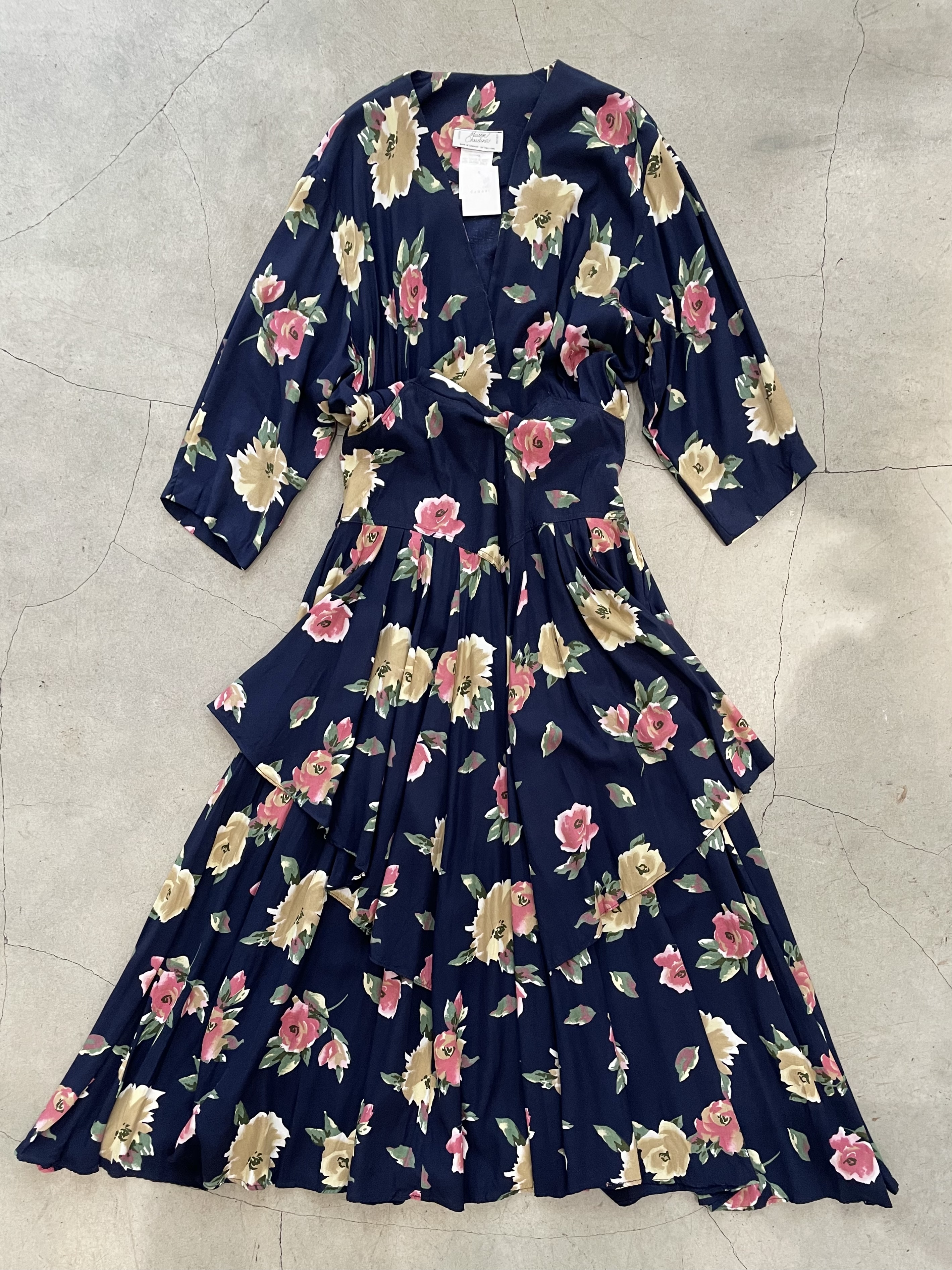 made in canada vintage floral dress