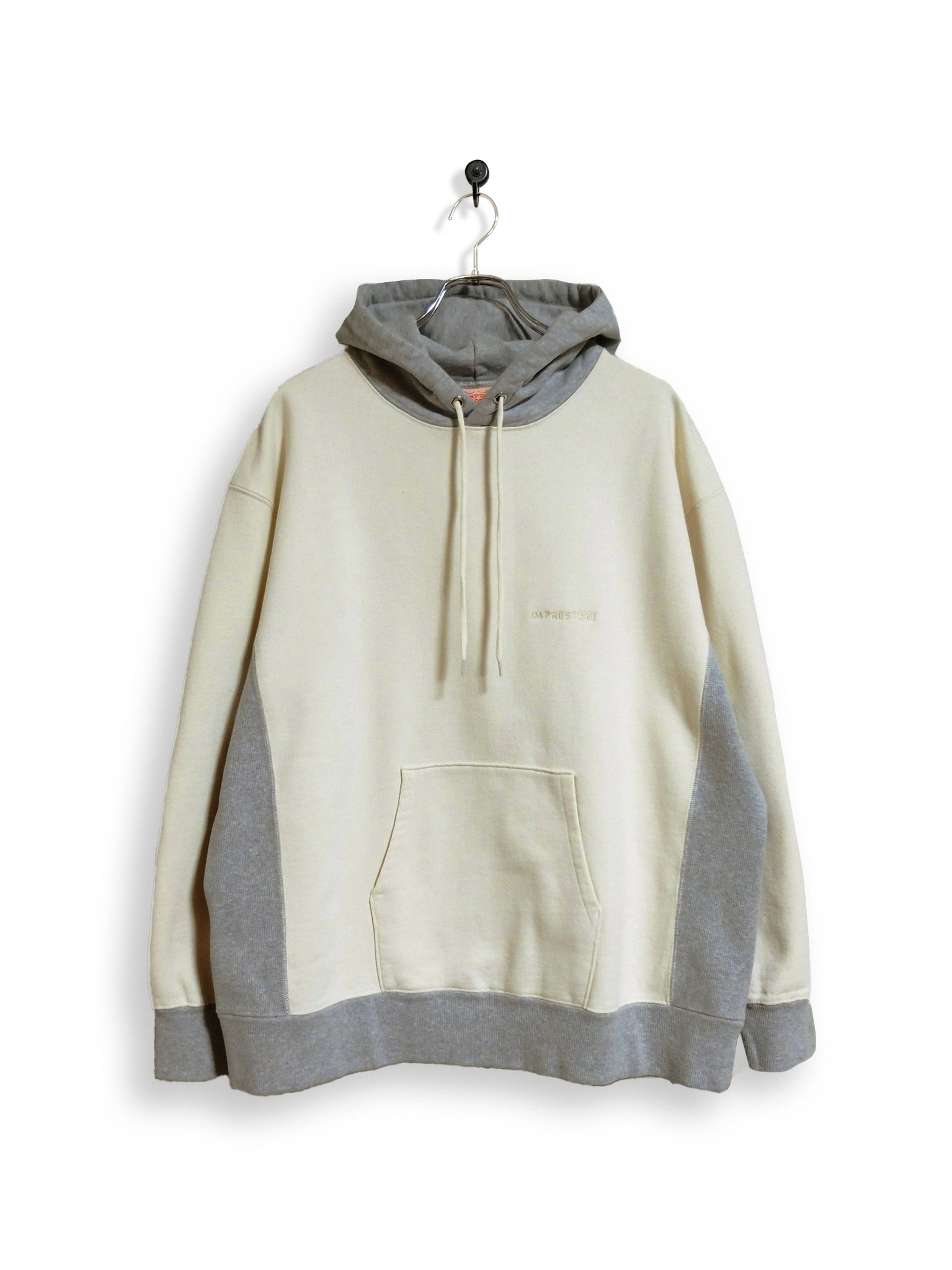 Original Hooded Sweatshirt / 2tone / white × gray