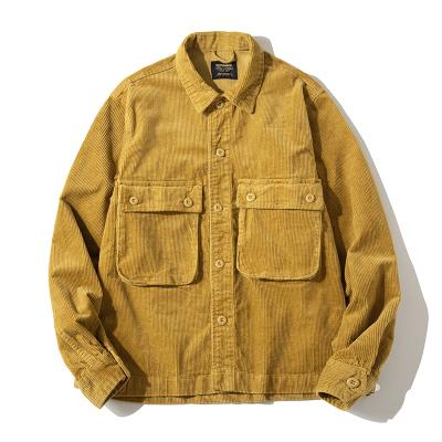 【MEN'S】コーデュロイ マルチポケット シャツ ジャケット【3colors】