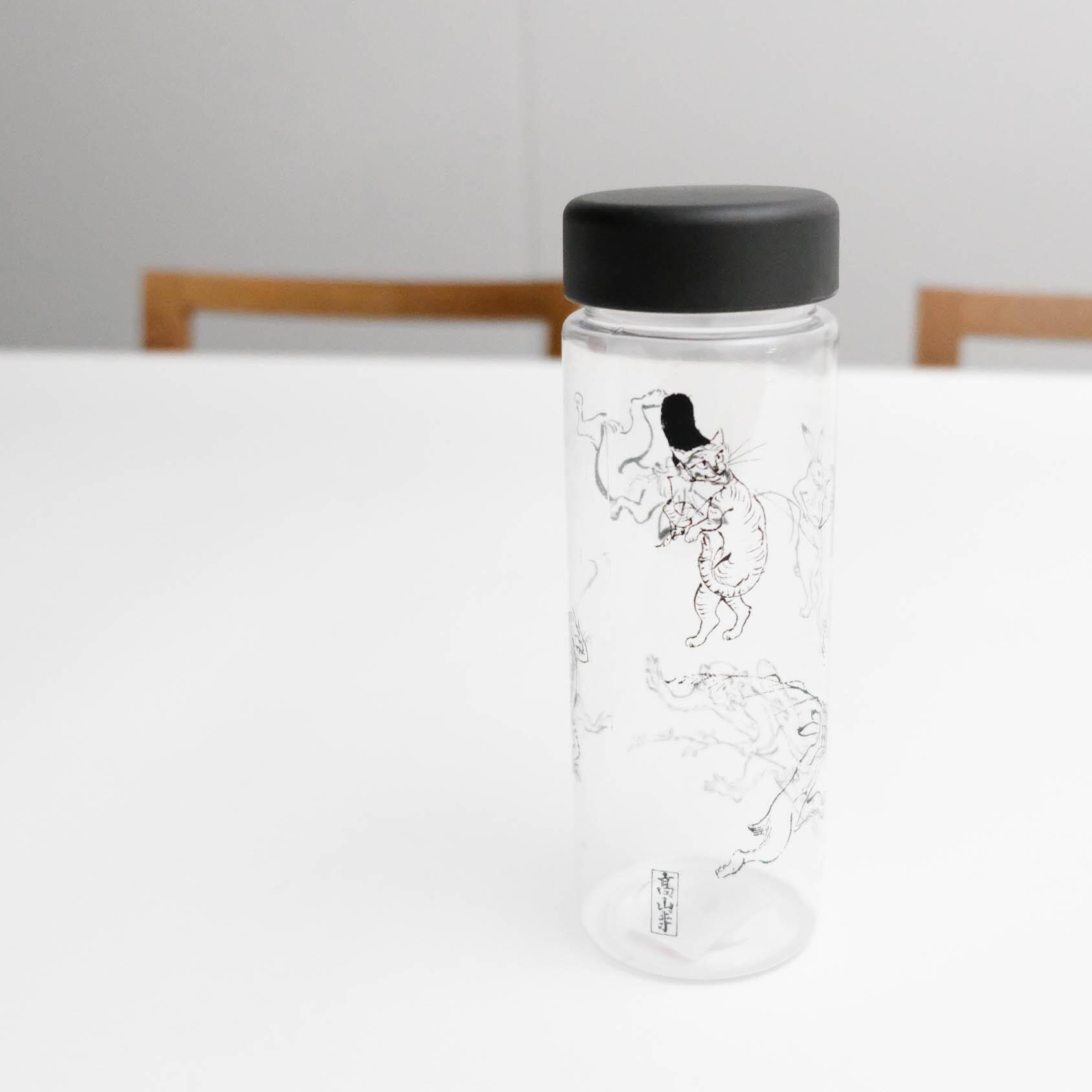 鳥獣戯画 クリアボトル ブラック