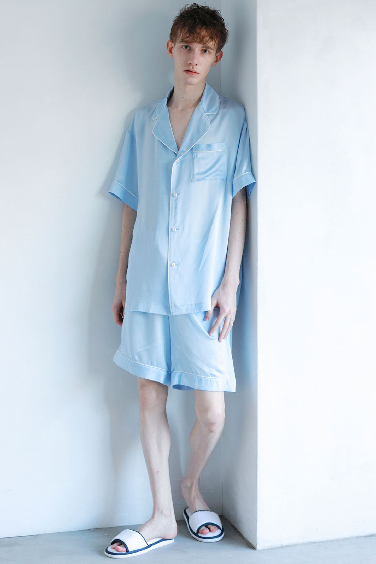 【Priv. Spoons Club(プライベート・スプーンズ・クラブ)】  メンズシルクパジャマ/半袖トップス ※上下別売り
