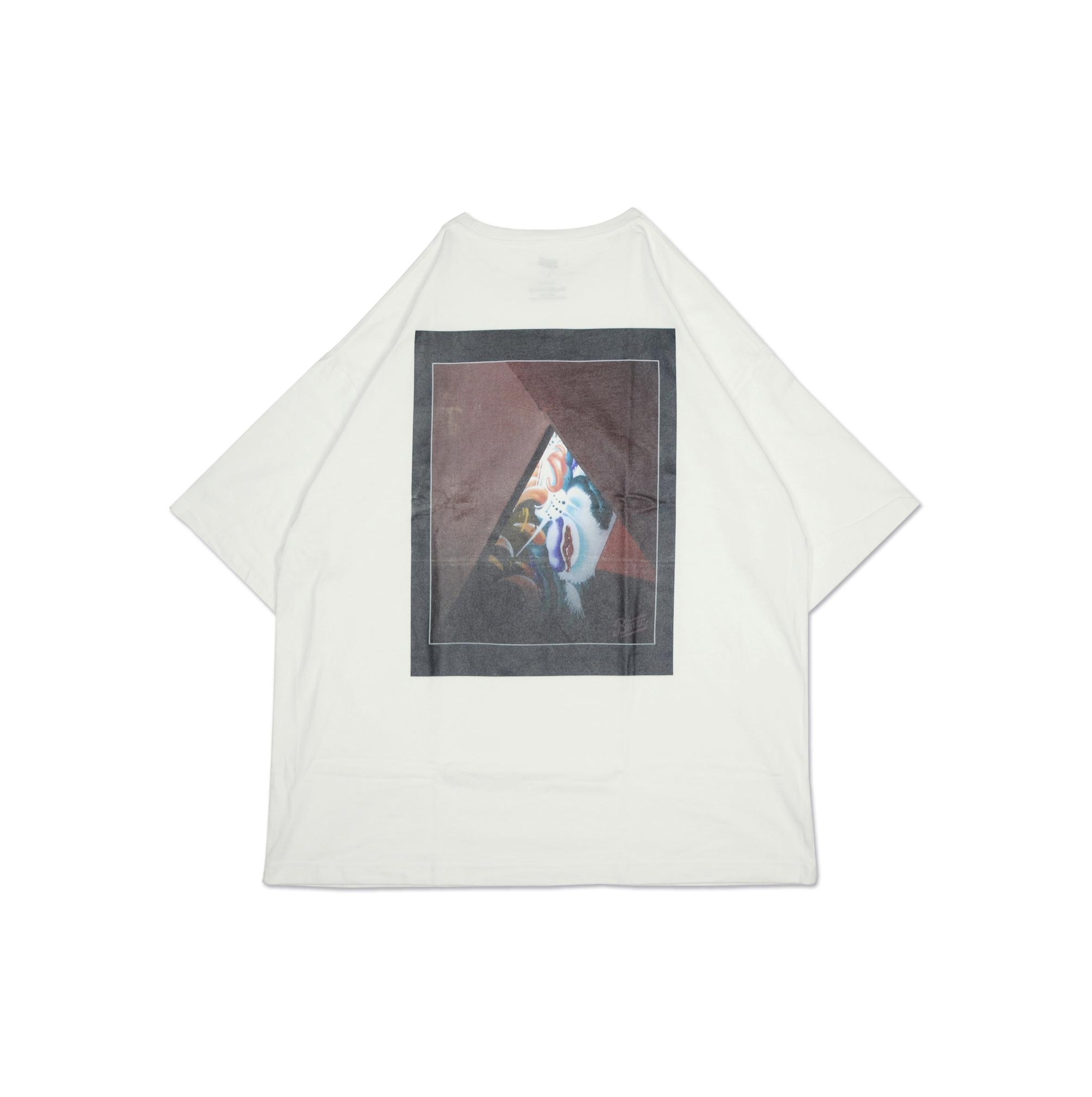 ATOMONE` BIG silhouette Pocket Tee [WHITE]