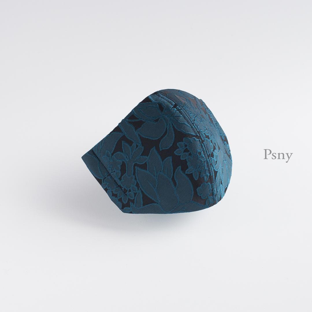 PSNY ラルジャン・のしめ花色の美しい織りが素敵なマスク 不織布フィルター入り 立体 大人 ますく マスク -----------------------------------------FG07