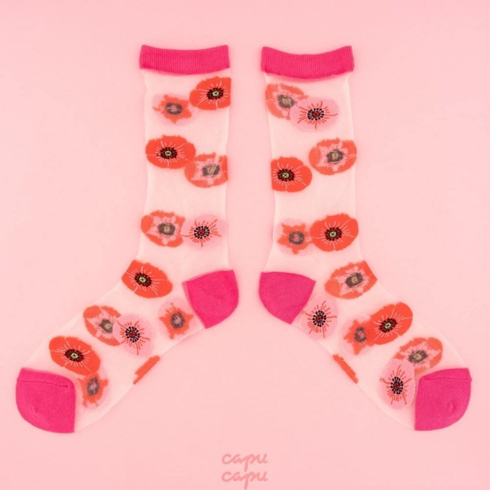 Coucou Suzette Poppy Sheer Socks