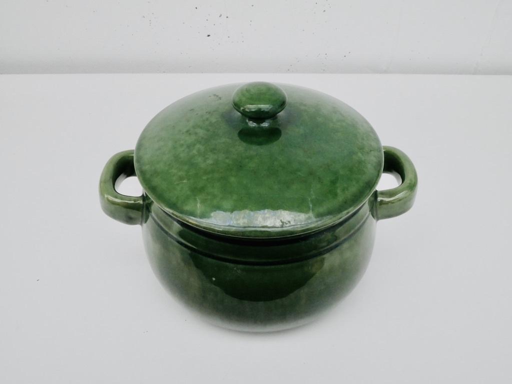 Höganäs keramik (ホガナス ケラミック)・グリーンのポット