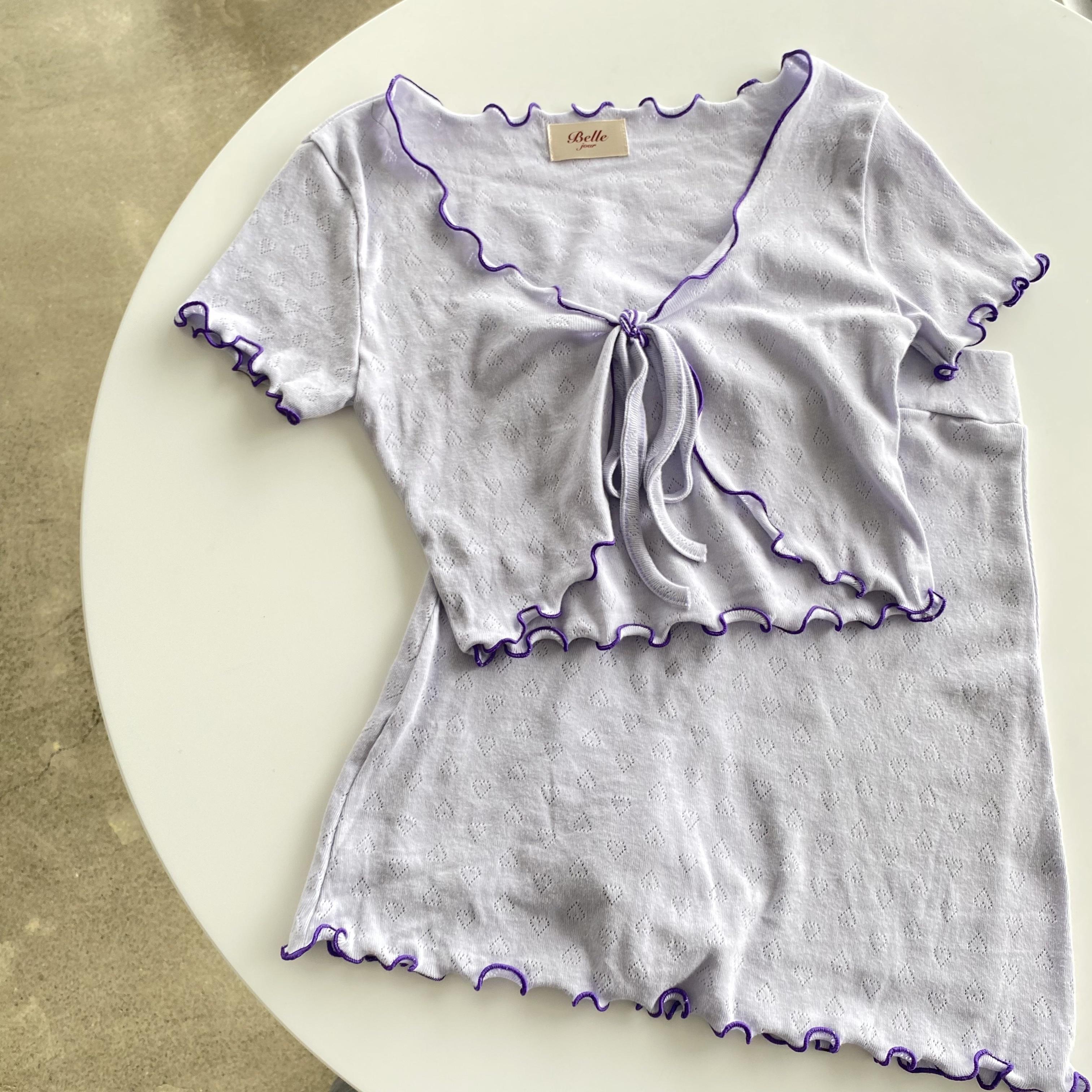 【Belle】mellow frill setup / violet