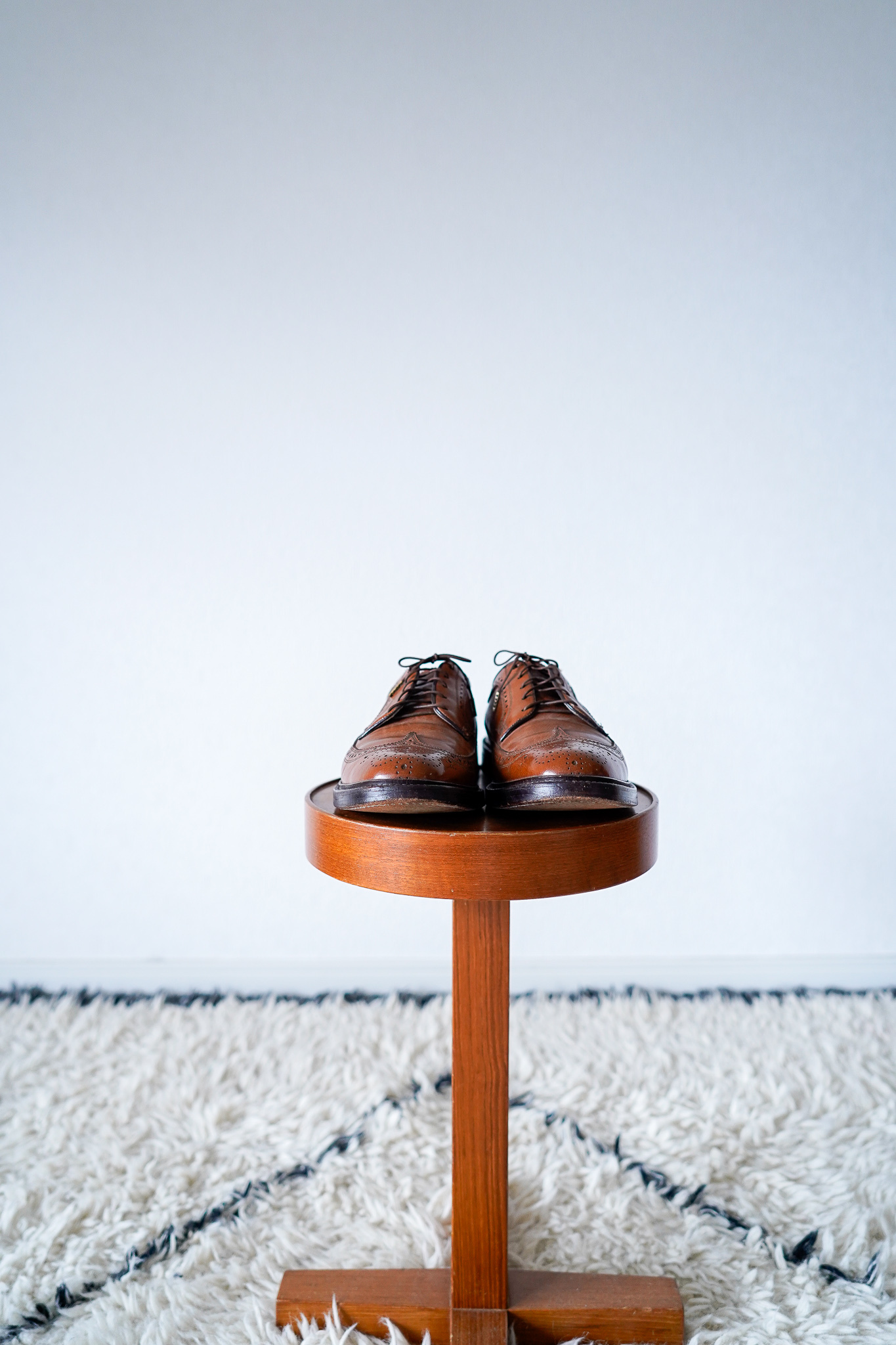 """【1980s】""""Kenmoor, Florsheim Imperial"""" Wing-tip Leather Shoes / v635y"""