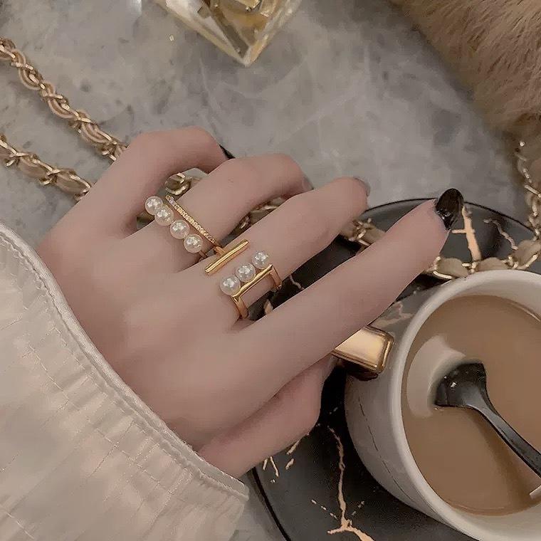 pearl design ring 2type