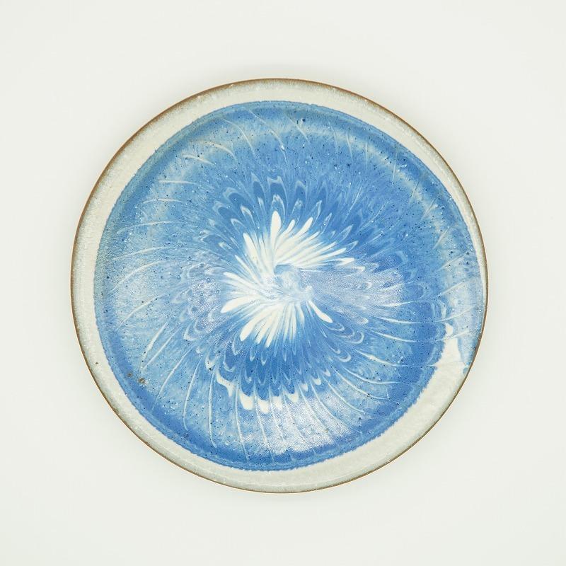 スリップウェア 5寸皿【唐仙窯】