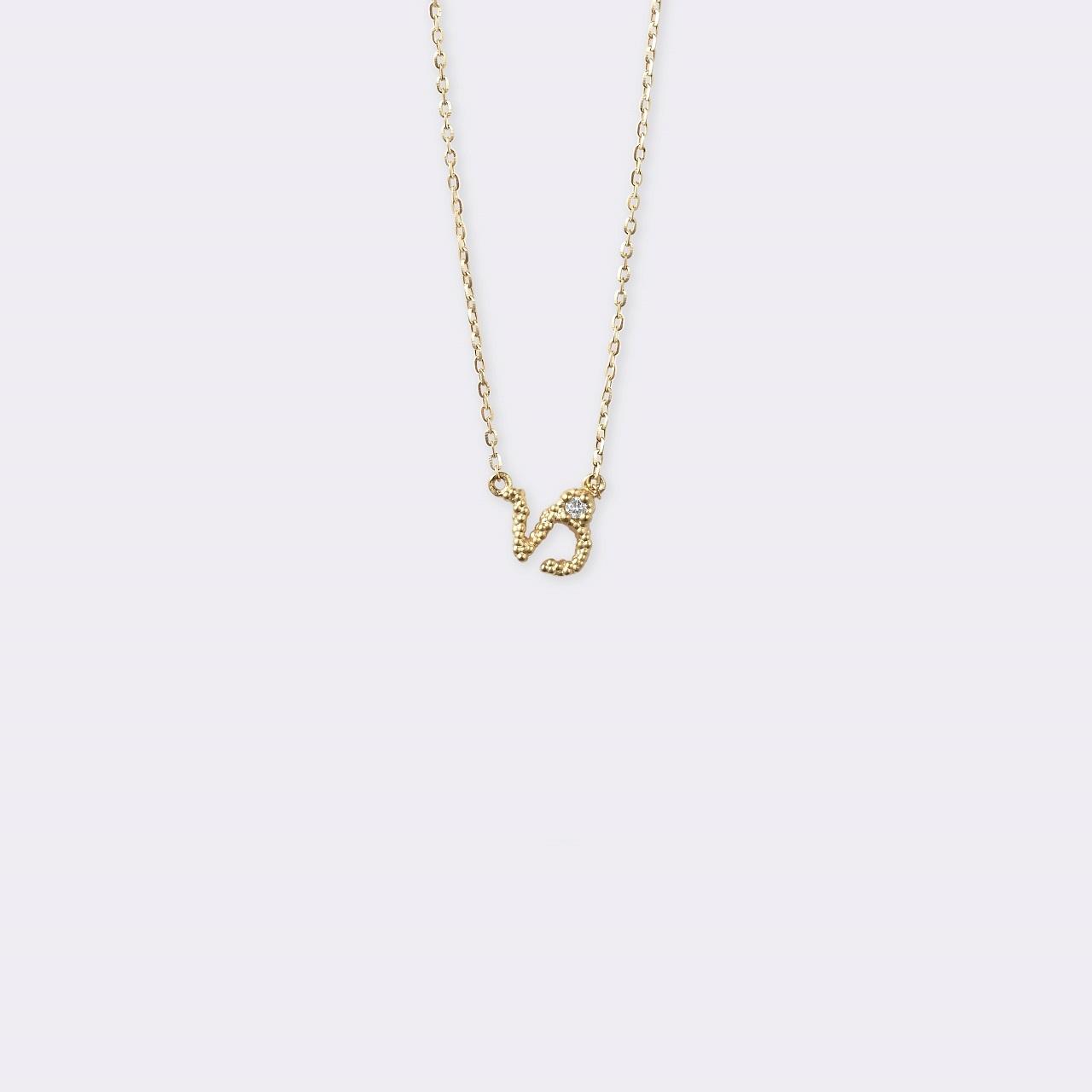 Horoscope Necklace 山羊座 K18YG(ホロスコープネックレス やぎ座 K18イエローゴールド)