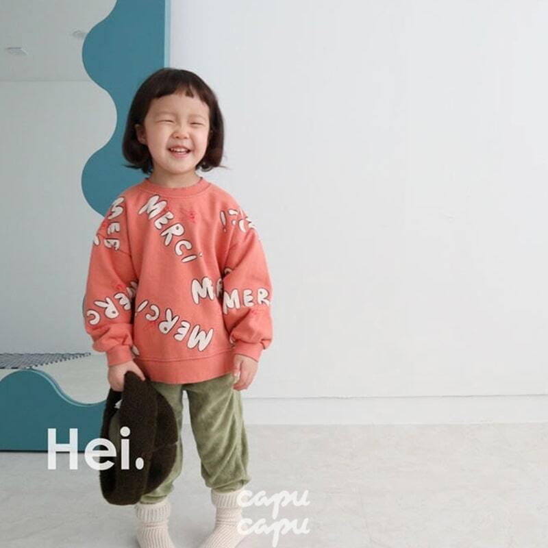 «sold out»«Hei» merci sweatshirt 3colors メルシースウェット