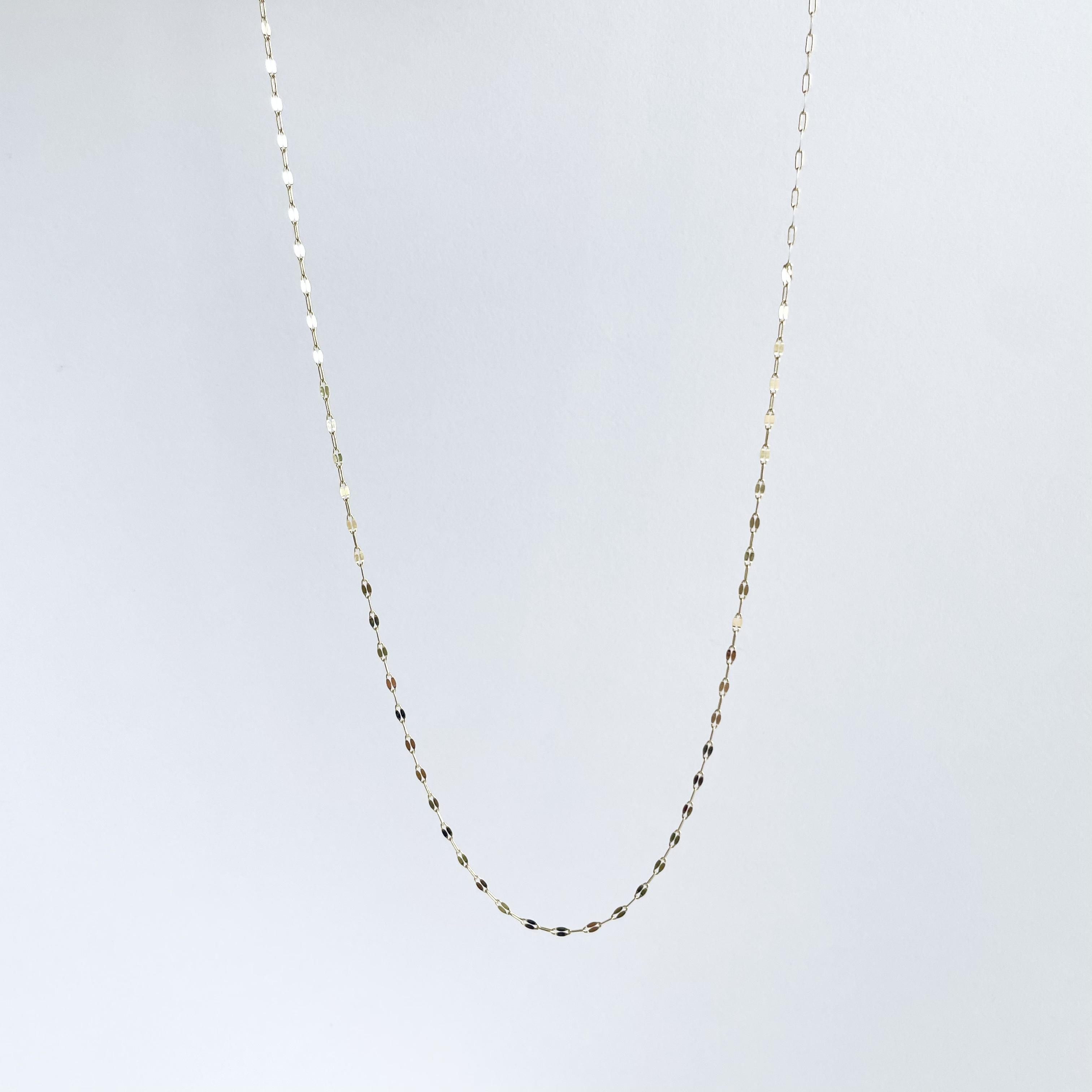 K10YG Design Chain Necklace / Shine
