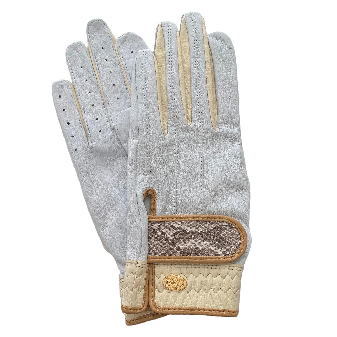 Elegant Golf Glove white-ivory-python
