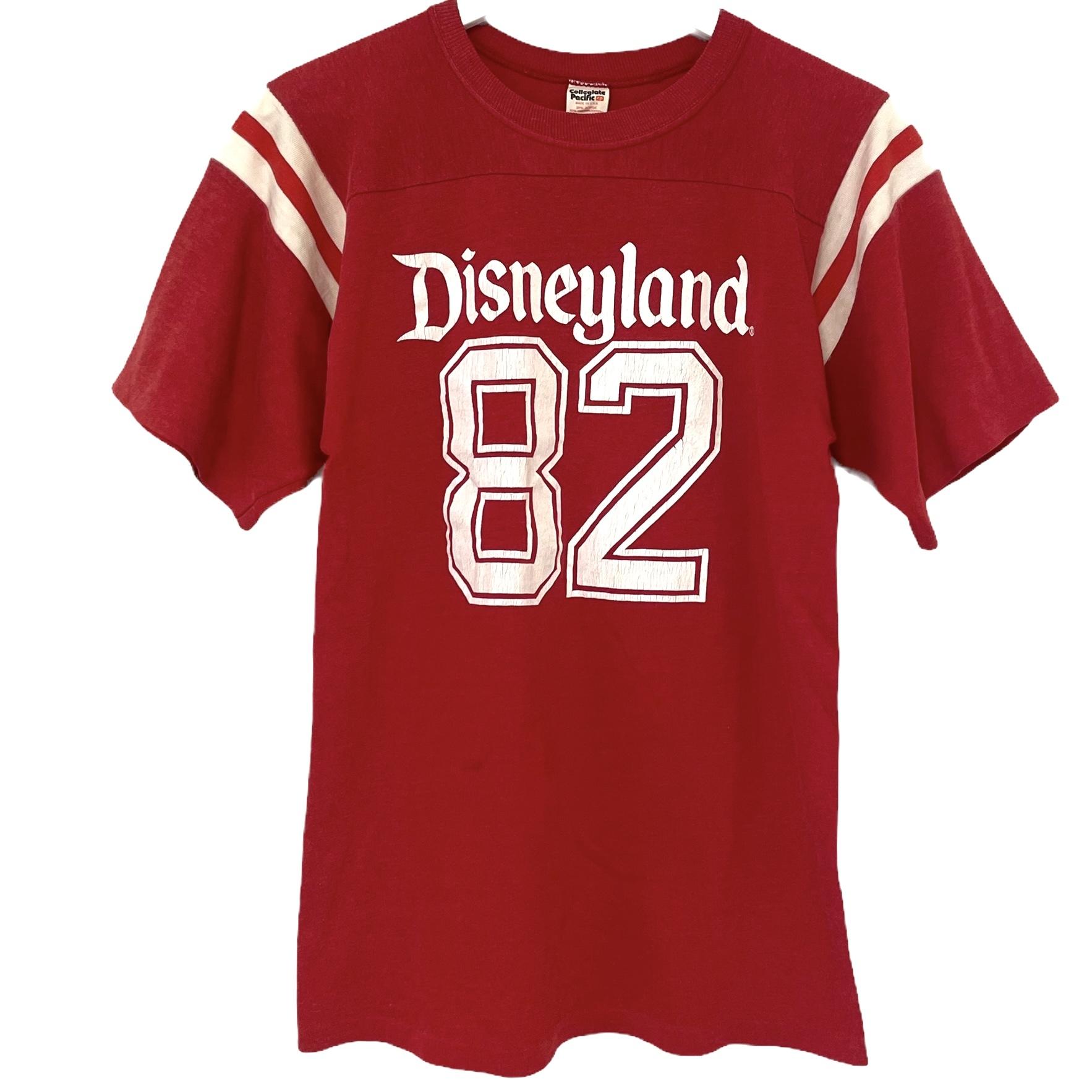 80's Collegiate Pacifc Football T Disneyland 82【M】