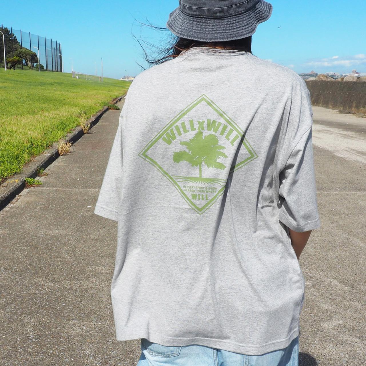 WillxWill WILLLAND Big Silhouette T-shirts Gray