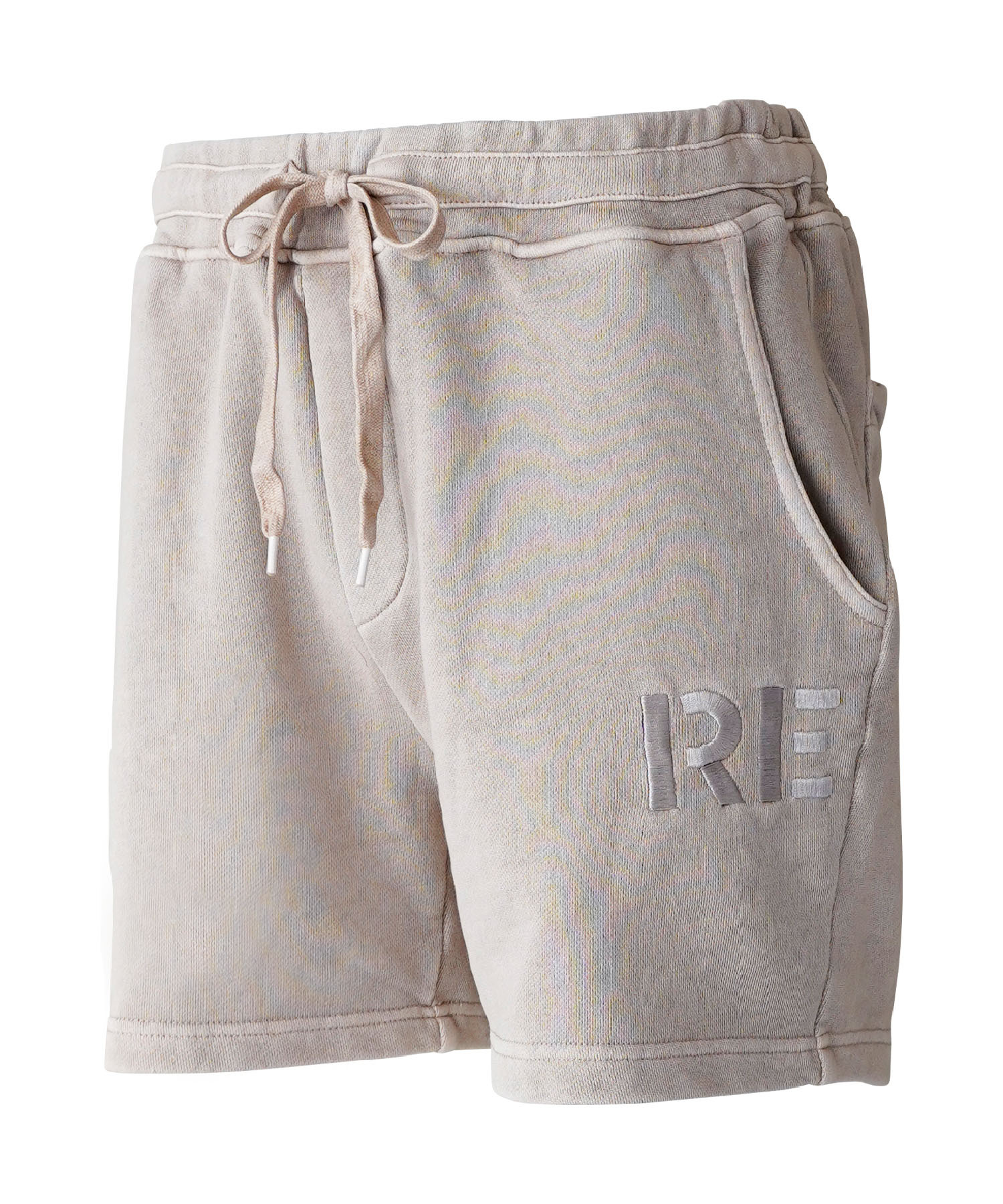 WASHED VINTAGE EMBROIDERY COLOR SWEAT SHORTS[REP138]