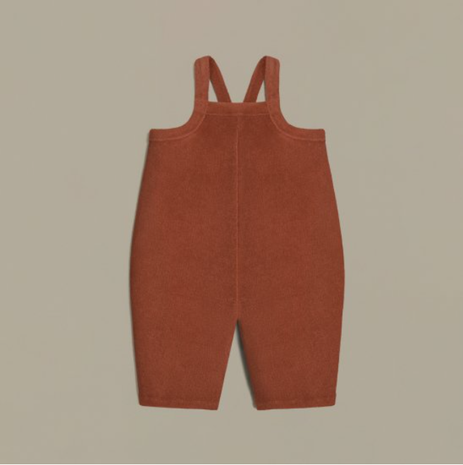 organic zoo「Deep Earth Terry Cropped Dungarees」