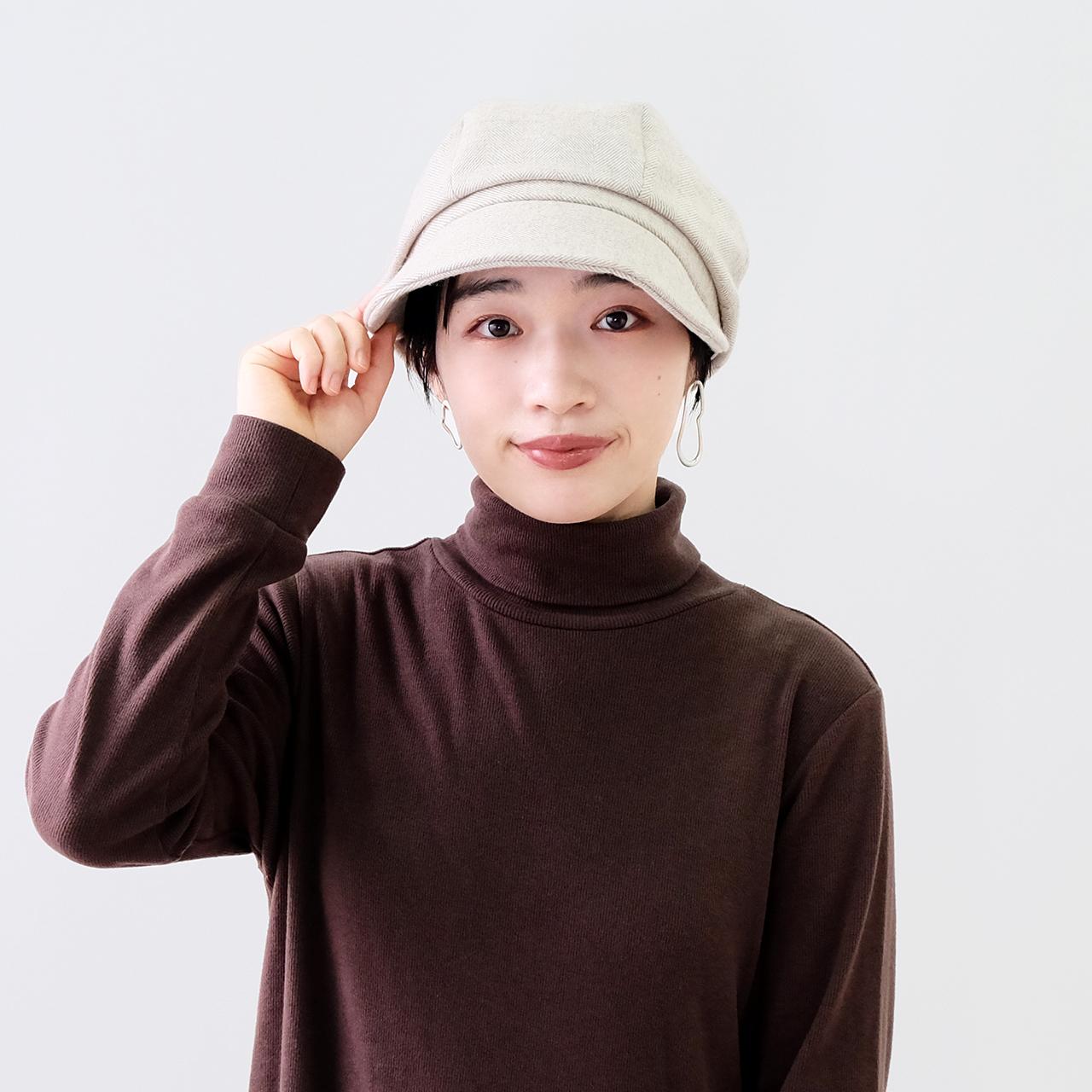 【秋冬新作】BuLuKa(ブルカ) ヘリンボンキャスケット [12-21209]