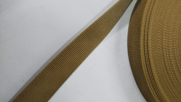 ナイロンテープ 高密度織 30mm幅 1mm厚 カラー(黒以外) 1m単位