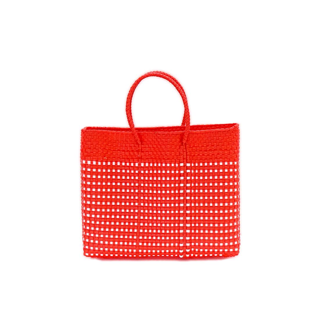 MERCADO BAG HALF MINI CHECK - Red(XS)