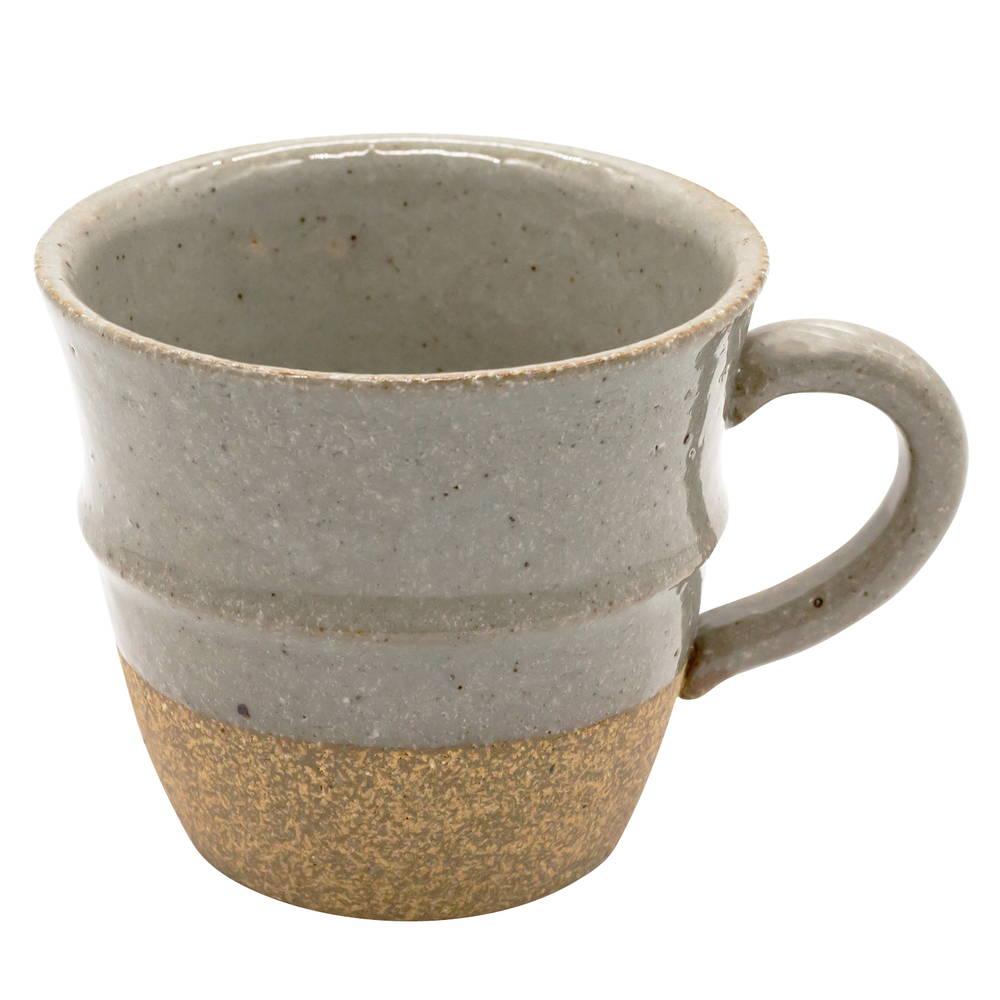 萬古焼 藍窯 ステップマグカップ 220ml 「エスタ Esta」 赤土グレー AGM-200102