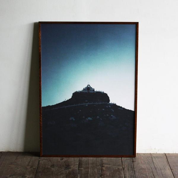 Mexico Parras - church on the hill / B2 poster