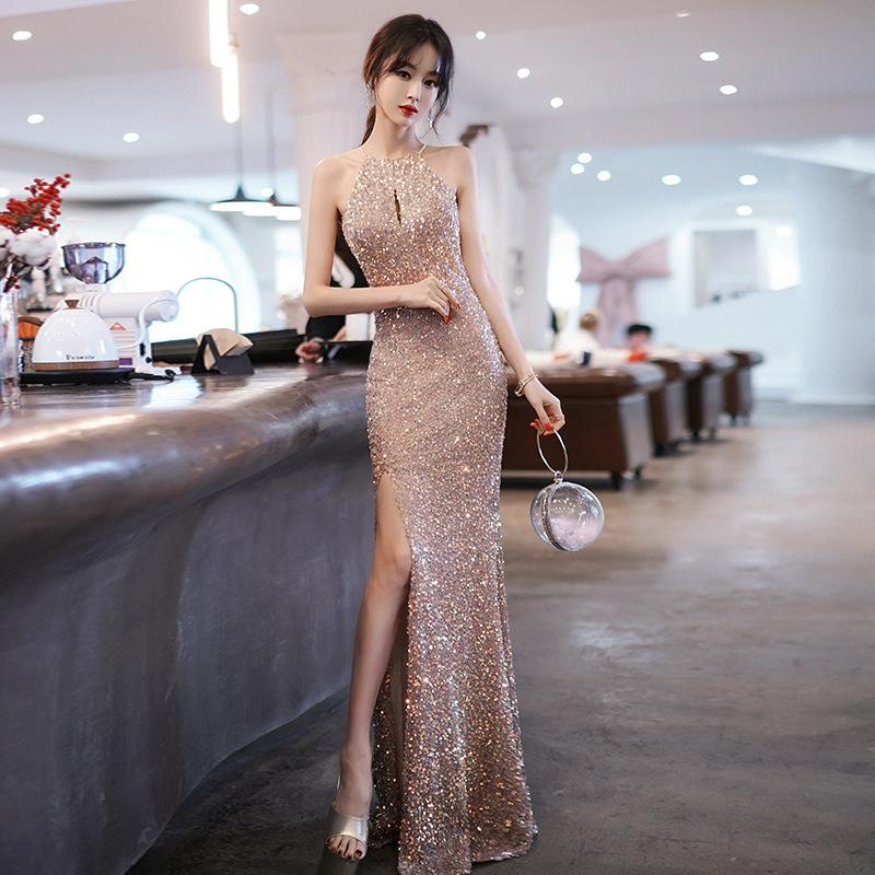 2色 ピカピカ 谷間魅せ えちえち 高級 高見え 着痩せ ロングドレス キャバドレス MY2097