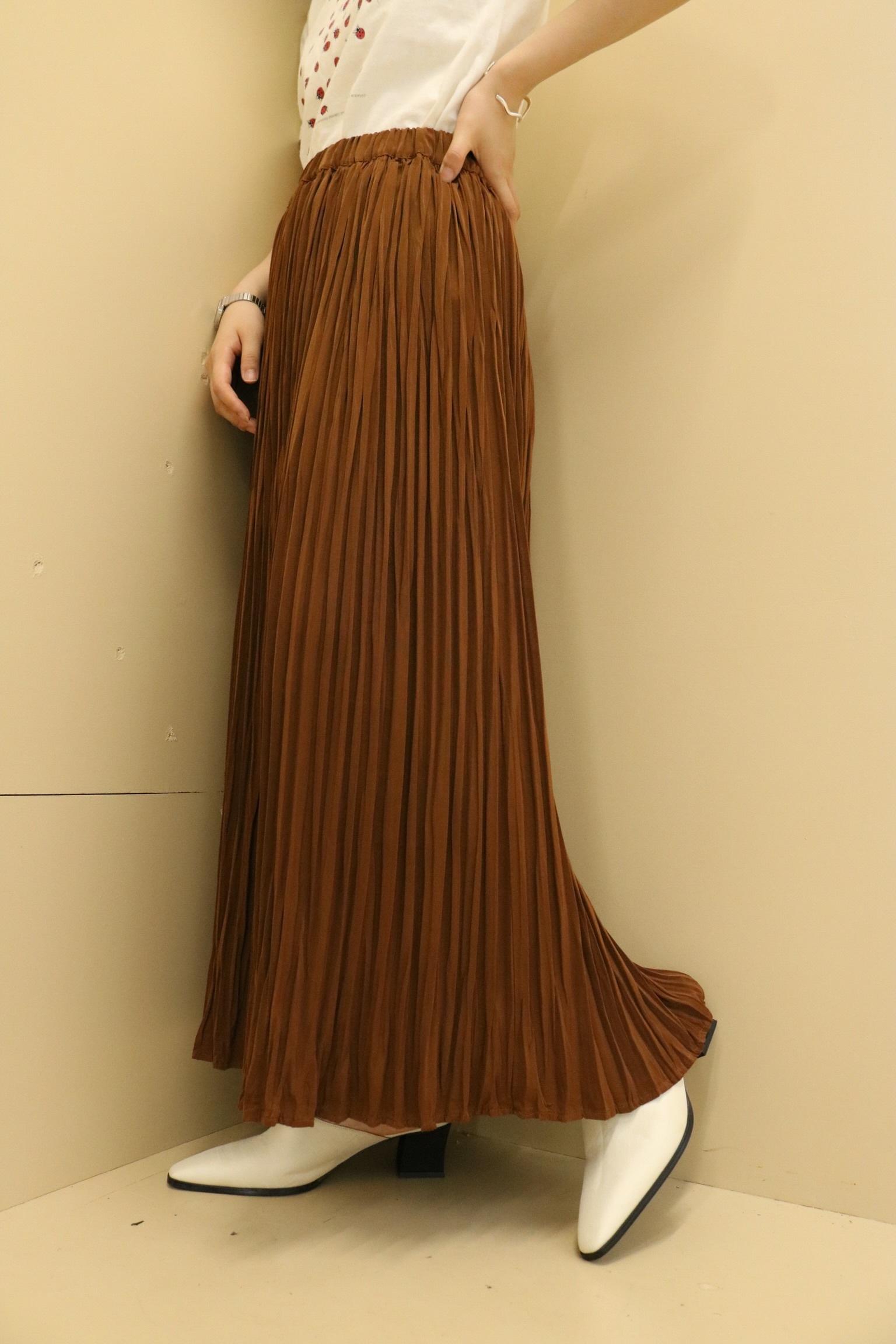 accordion pleats skirt / 7SSSK09-19