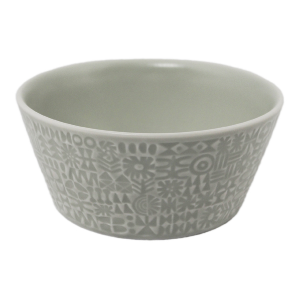 BIRDS' WORDS Patterned Bowl morning mist