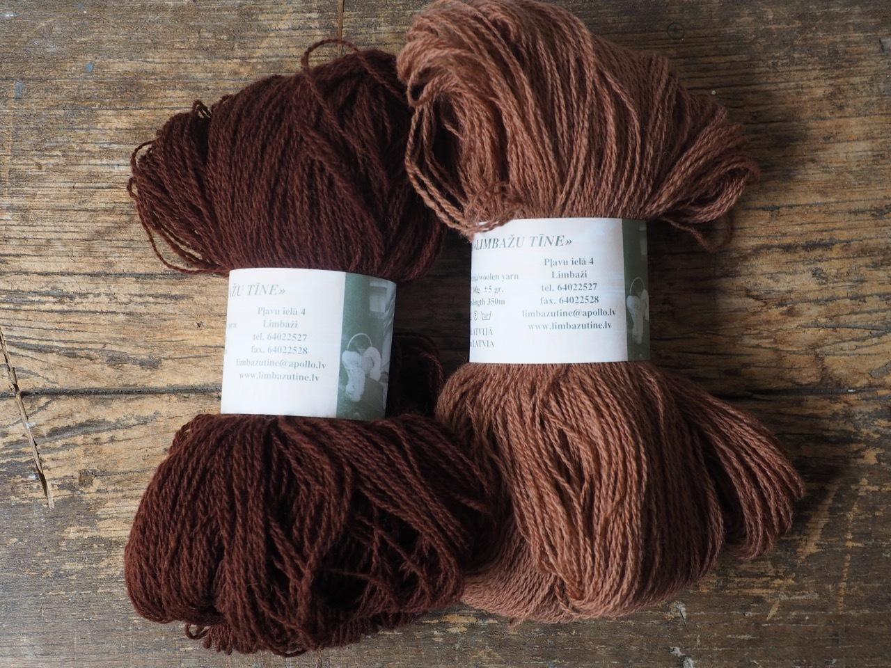 ラトビアの毛糸 こげ茶/栗色
