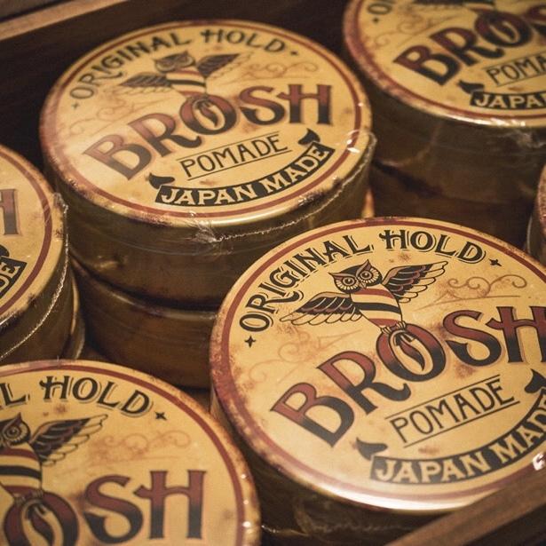 BROSH ブロッシュ ポマード 業務用1個つき卸売決済用 オリジナルホールド(香りあり)115g