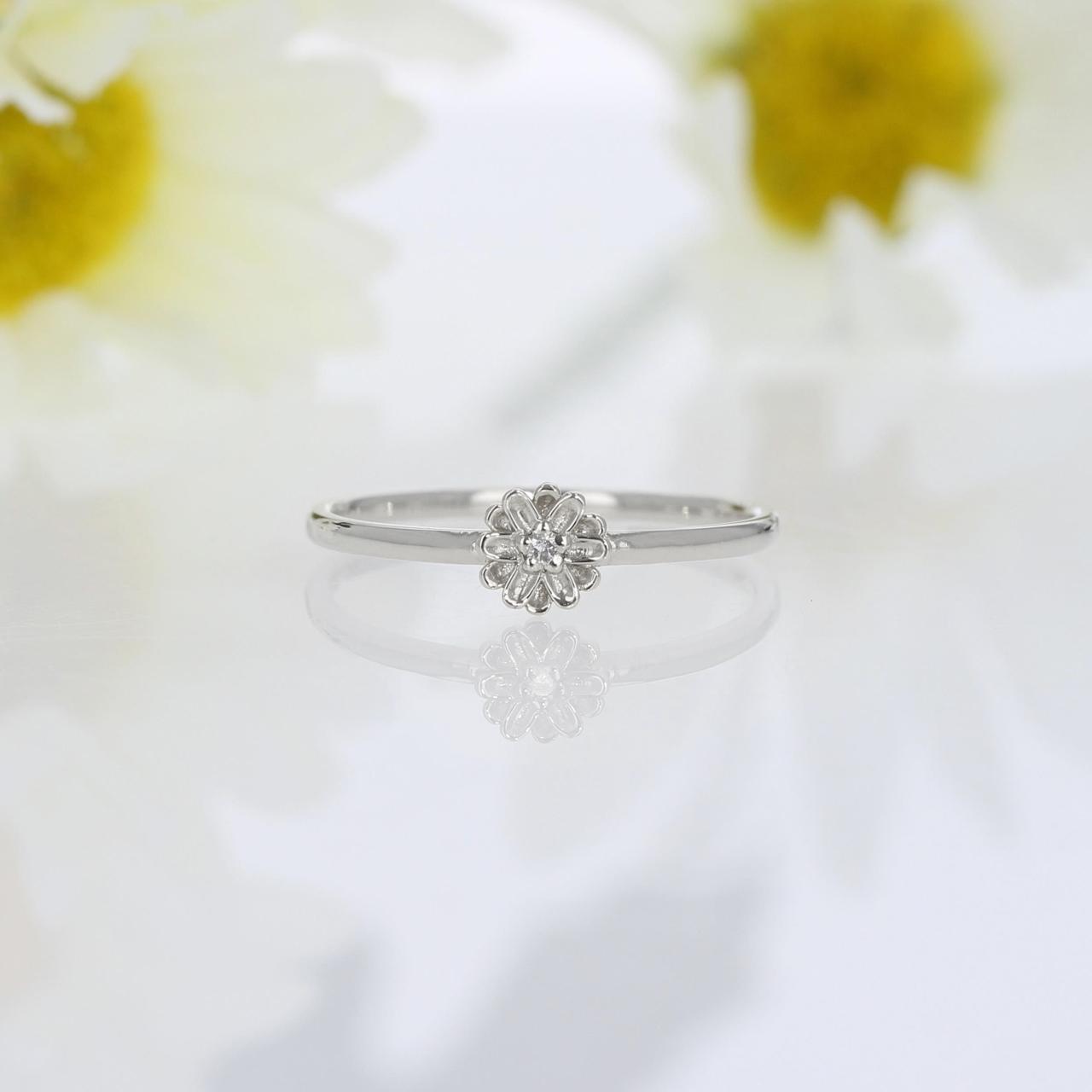 Silver / リング / Daisy melee diamond ring