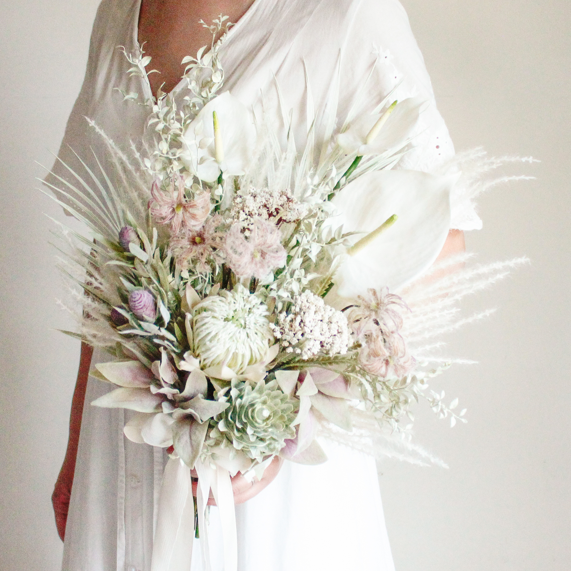 Nuance Green Bouquet&Boutonniere