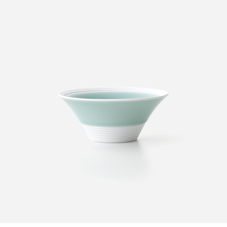 No.95 青磁白彩 反り小鉢