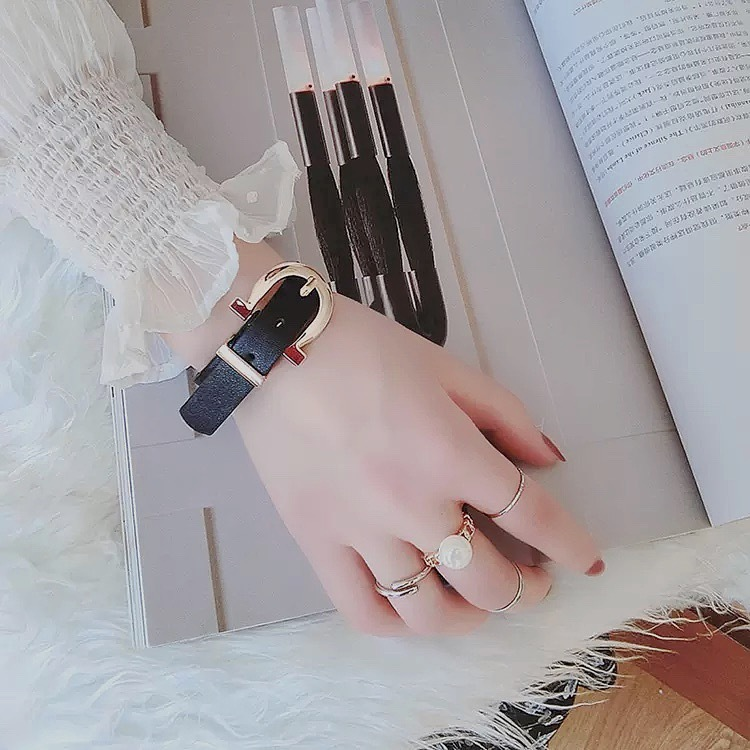 color leather bangle 2color